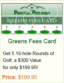 Greens Fees Card